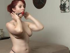 redhead self bondage porn tube video