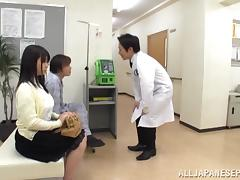 Big boobed Japanese teen Aimi Irie in medical adventure tube porn video
