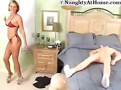 Lonely bored wife bonks her inflattable doll