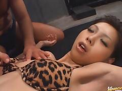 Mimi Hot Asian model likes fucking with two guys tube porn video