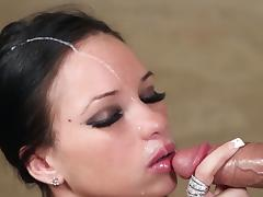 Cock sucking Raven Bay loves to swallow