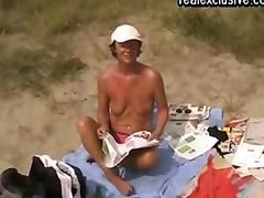 Beach sex with a Mature Belgian cougar tube porn video