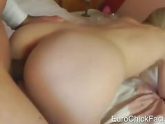 Euro chick get cum on her face