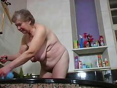 Bathing, Bath, Bathing, Bathroom, Granny, Mature