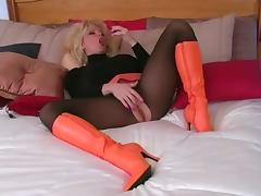 Boots, Blonde, Boots, Nylon, Pantyhose, Shoes