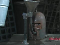 locked in an iron device