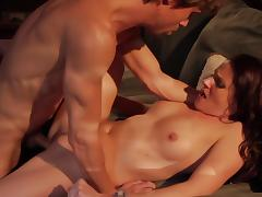 Appealing porn scene with  a beautiful babe