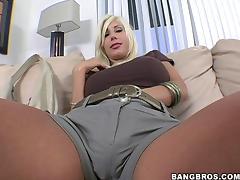 Beautiful Blonde Cougar With Massive Fake Tits Enjoying A Hardcore Doggy Style Fuck