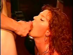 Beautiful dutch redhead  milf gets a big facial tube porn video