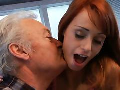 Lucky oldman fucks with super sexy babe Erica Fontes porn tube video