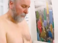 Russian Old and Young, Brunette, Group, Naughty, Old Man, Orgy