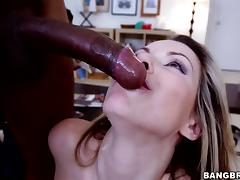 Courtney Cummz has great sex with a handsome black stud tube porn video