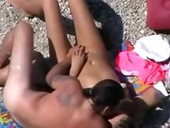 Beach Sex, Beach, Cum, Mature, Spy, Wife