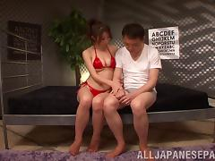 Charming Maiden In Bikini Gets Her Hairy Pussy Licked