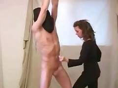 Femdom Whip Handjob & Cumshot