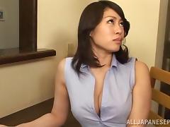 Kaori Otonashi naughty Asian model spreads her legs for a licking