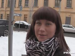 Russian Amateur Gives A Handjob then Gets Hammered
