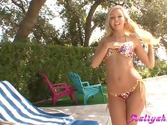 Sweet Aaliyah Love Masturbates In Bikini Outdoor porn tube video