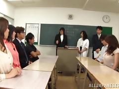 Teacher, Asian, Blowjob, Handjob, Horny, Japanese