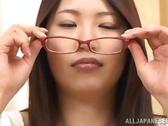Hot Japanese Milf With Long Hair Gets Deepthroat Feasting
