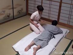 Massage, Asian, Bra, Couple, Doggystyle, Hairy