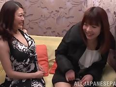 Sexy Lesbian In Panties Yelling While Her Pussy Is Drilled With Toys
