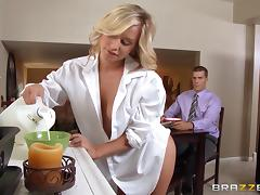 Couple Fucks With A Teen Sweetheart At Home