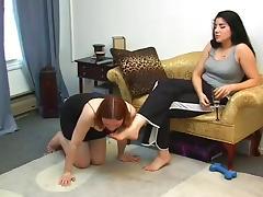 Feet, BDSM, Feet, Femdom, Lesbian, Slave