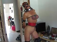 Chained, BDSM, Bound, Dildo, Masturbation, Redhead