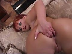 Redhead gets hard anal