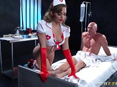 Sexy nurse Mia Malkova gets her pussy licked, fingered and fucked hard