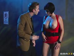 Lewd mom Shay Fox gets her snatch pounded hard after giving a blowjob