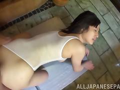 Classy Japanese Cowgirl In Bikini Loves Doggy style Fuck
