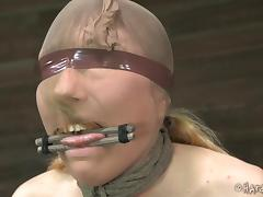 Blindfolded, BDSM, Blindfolded, Blonde, MILF, Nylon