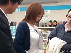 Sexy Japanese Tsubasa Arai Gives Reality Blowjob In Public