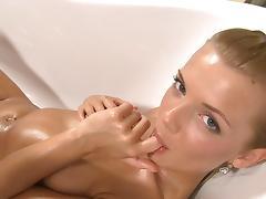 Bathroom, Bath, Bathing, Bathroom, Blonde, Masturbation