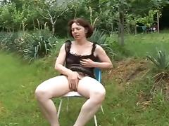 Mom is play with her very hairy cunt!