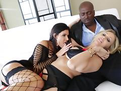 All, Big Tits, Blowjob, Ffm, Fishnet, Handjob