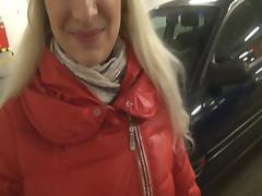 Beauty Blonde in Blowjob Garage