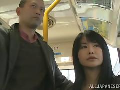 Bus, Asian, Bus, Couple, Fingering, Hairy