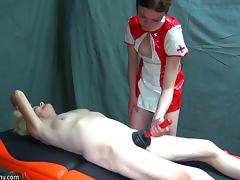 latex nurse plunges her old cunt