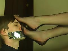 Polish Blonde Foot Worship and Smother