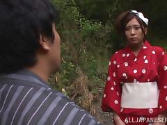 Naughty Japanese Woman Enjoying A Hardcore Doggy Style Fuck In Her Garden
