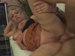 Blonde german MILF in lingerie anal fucked tube porn video
