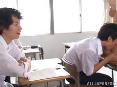 Hot teacher Akari Asahina enjoys fucking with student