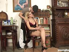 Young busty Marry ride anally a big dick