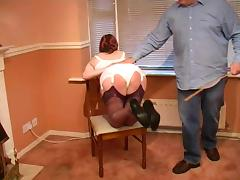 Corset caning porn tube video