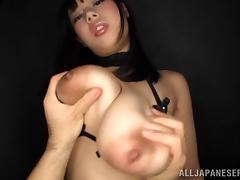 Slutty Asian Brunette Treats A Hard Cock In A Hardcore Titjob