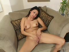 Latina masturbates