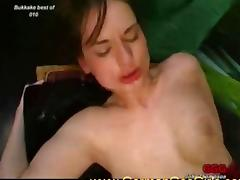Sexy young sluts loves bukkake and warm semen on their cute faces porn tube video
